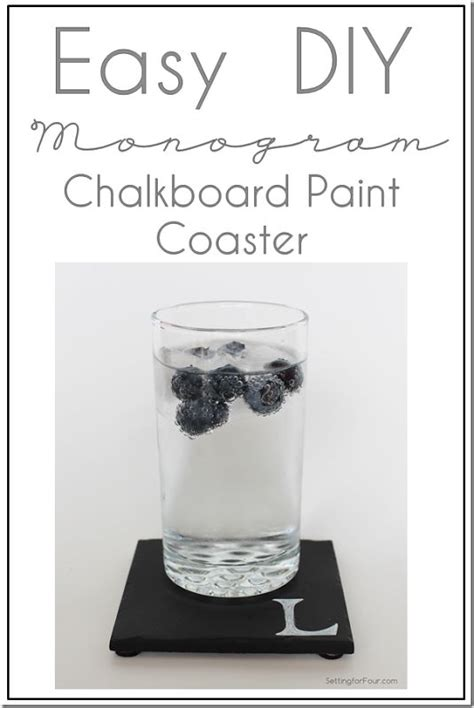 chalkboard paint ideas for gifts easy diy monogram chalkboard paint coasters simple the
