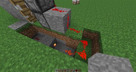 How To Make A Redstone Door by Minecraft Redstone How Do I Make A 1x1x2 Piston Door That Opens When I Step On A Plate And Not