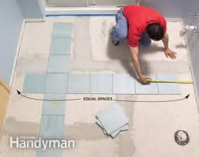 tiling a floor where to start install a ceramic tile floor in the bathroom the family