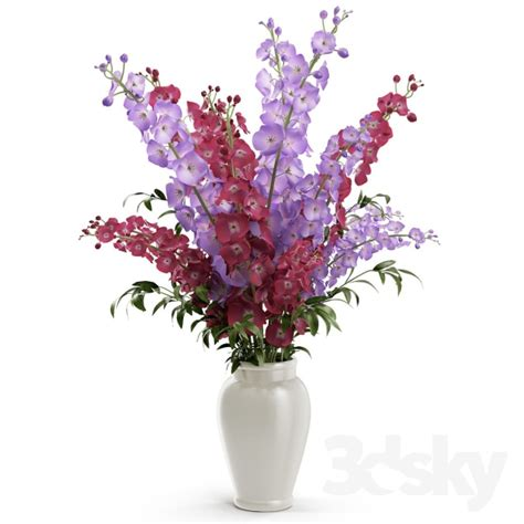 flowers in a vase 3d models plant delphinium in a vase