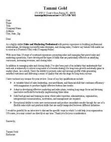 Cover Letter Exles Marketing by Sle Marketing Cover Letter