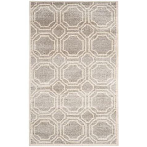 10 x 14 outdoor rug safavieh amherst light gray ivory 10 ft x 14 ft indoor outdoor area rug amt411b 10 the home