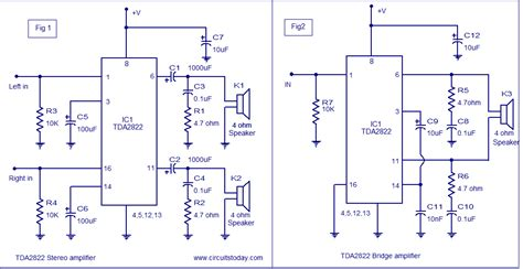 An17823a Btl 4w Mono Power Lifier tda2822 lifier circuit 3v to 15v operation for handheld audio applications