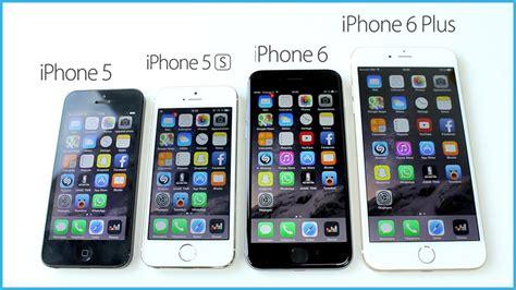 comparaison iphone 6 plus vs iphone 6 vs iphone 5s vs iphone 5 5c vs iphone 4s vs