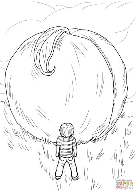 coloring pages james and the giant peach az coloring pages