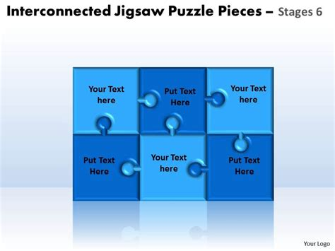 Interconnected Jigsaw Puzzle Pieces Stages 6 Powerpoint Templates Powerpoint Presentation Powerpoint Jigsaw Puzzle Pieces Template
