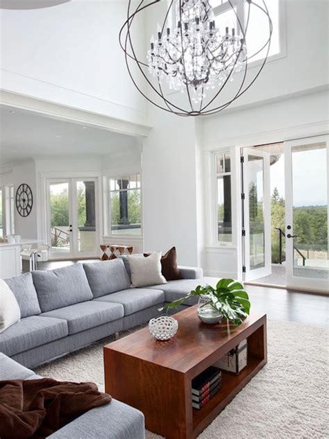 Size Of Chandelier For Room Chandelier In Living Room Height Home Design Ideas