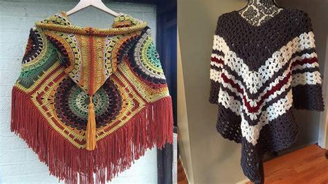 chalinas 2017 tutoriales ideas para tejer chalinas y ponchos tejidos a crochet y