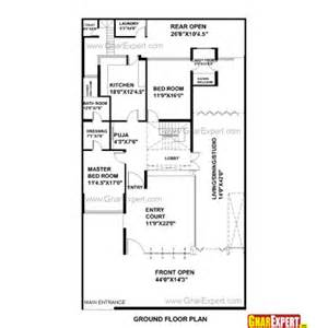 Design House 20x50 house plan for 42 feet by 75 feet plot plot size 350
