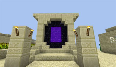 ideas portal my desert themed nether portal portal deserts and