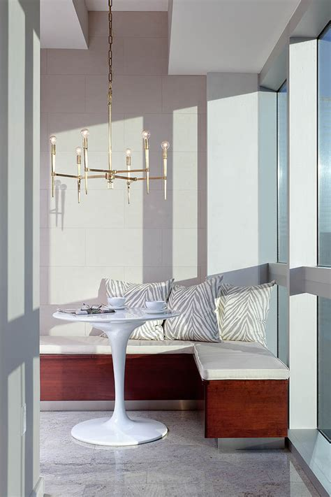 modern corner bench corner banquette kitchen transitional with corner