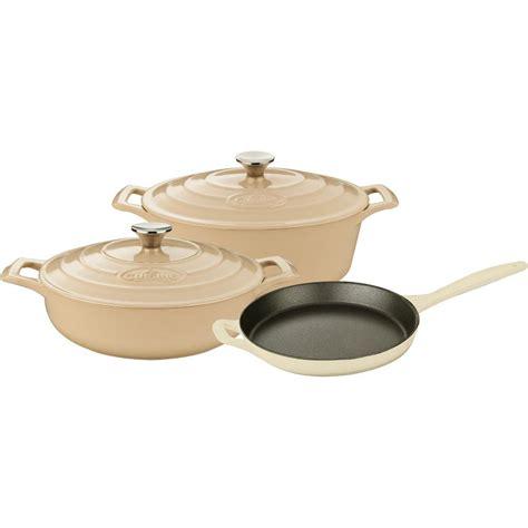 pots cuisine la cuisine 5 enameled cast iron cookware set with