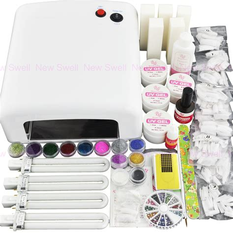 gel nail kit with uv light nail 36w white color uv gel nail curing dryer l light