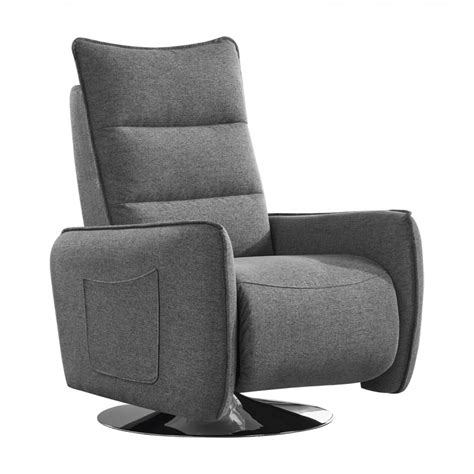 Modern Fabric Recliners by Divani Casa Fairfax Modern Grey Fabric Recliner Chair