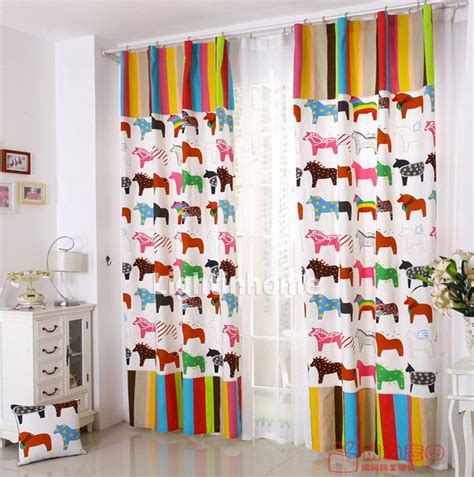 horse curtains  likes girls bedroom decor