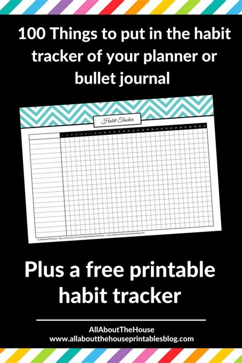 printable habit tracker bullet journal free printables