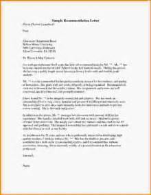 Recommendation Letter Format For Loan 15 Sle Grad School Recommendation Letter Loan Application Form