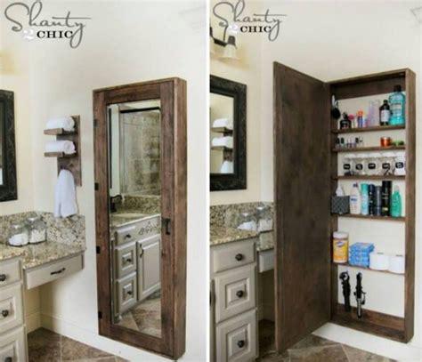 Diy Bathroom Wall by Diy Bathroom Wall Mirror Storage Tutorial