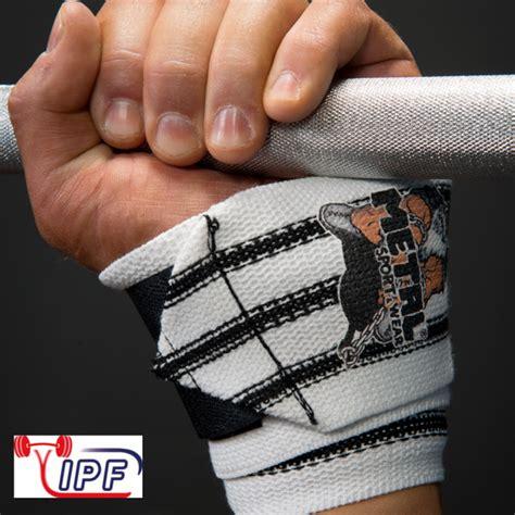 wrist wraps for benching metal triple black line wrist wraps ipf approved gometal com