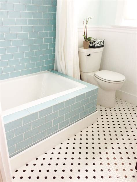 Blue Tile Bathroom Ideas The 25 Best Tile Tub Surround Ideas On Pinterest