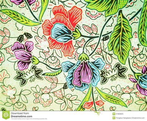 floral pattern batik colorful floral batik pattern royalty free stock photo