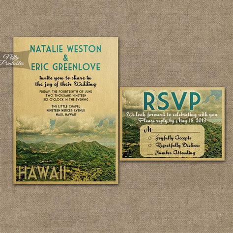 Hawaiian Wedding Invitations by Hawaii Wedding Invitation Printable Vintage Hawaiian