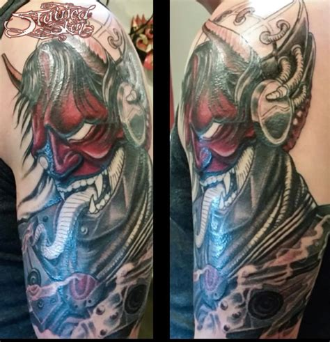 tattoo convention st cloud anthonydubois cyber hannya in progress in progress japanese