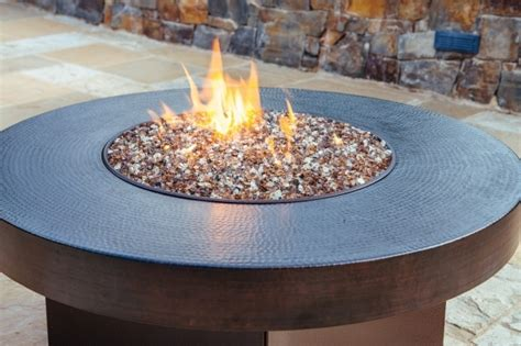 gas fire pit with glass rocks fire pit ideas