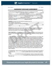 Purchase Of Business Agreement Template Free by Create A Business Purchase Agreement Templates