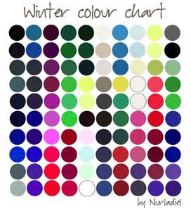 personal color analysis winter color chart season color analysis as the seasons