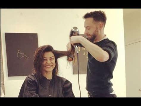 sushmita sen hairstyle sushmita sen at new yark city in parlour hair treatment