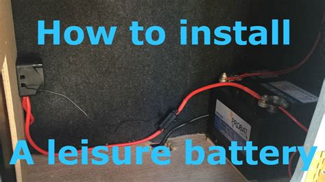 install  leisure battery  split charging youtube