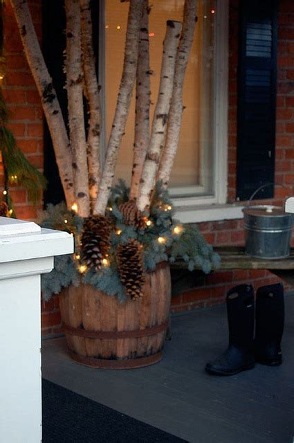 a rustic porch for christmas sophisticated decorating with