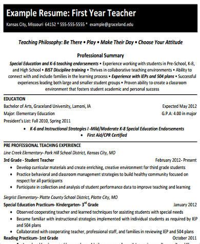 sle elementary teacher resume 10 exles in word pdf