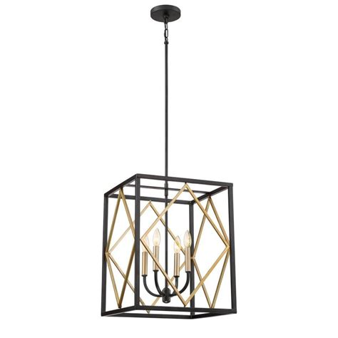 hanging light not hardwired shop quoizel platform 16 in black with gold hardwired
