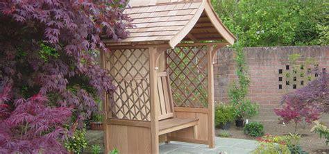 covered garden seat stan fairbrother garden structures