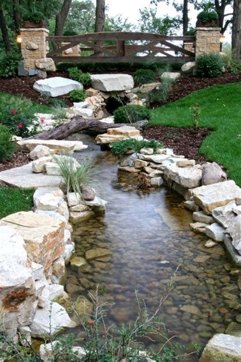 diy backyard stream 11 natural stream to guide rain water ideas start a back