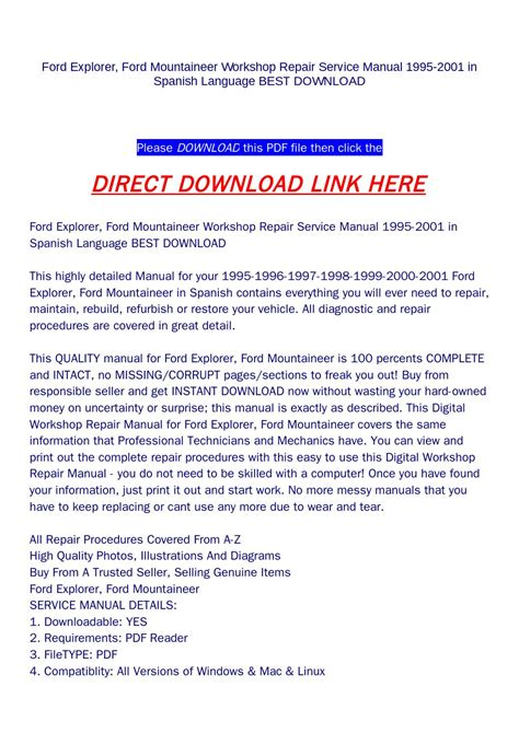 service and repair manuals 2010 ford explorer transmission control 28 98 ford explorer repair manual 34522 i have a 1999 ford explorer with a 5r55e