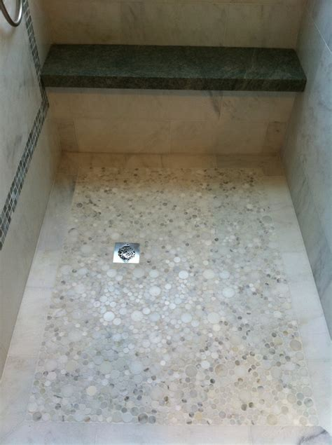 Pebble Shower by What Is This Flooring Material It Looks Like Smooth