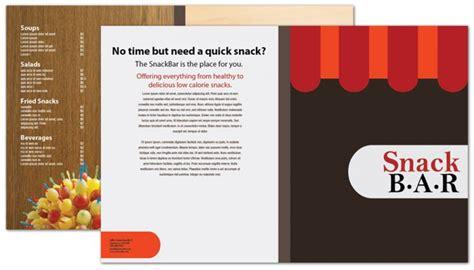 half fold brochure template for snack bar cafe deli