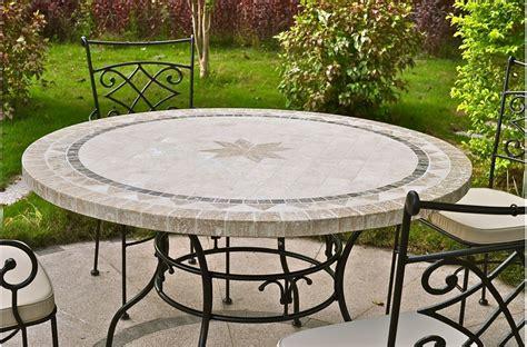Table Ronde Exterieur by Grande Table Ronde En Mosa 239 Que Mexixo De Marbre Pour