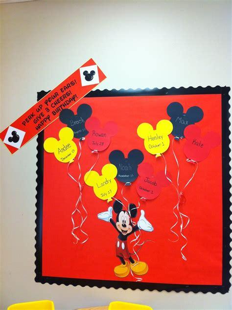 Disney Classroom Decorations by Mickey Mouse Birthday Board Disney Classroom Ideas