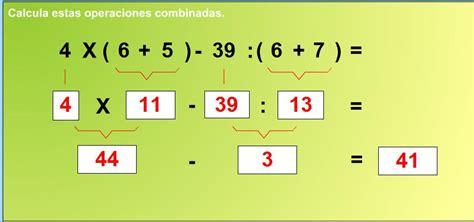 imagenes animadas de operaciones matematicas juegos de mates operaciones combinadas