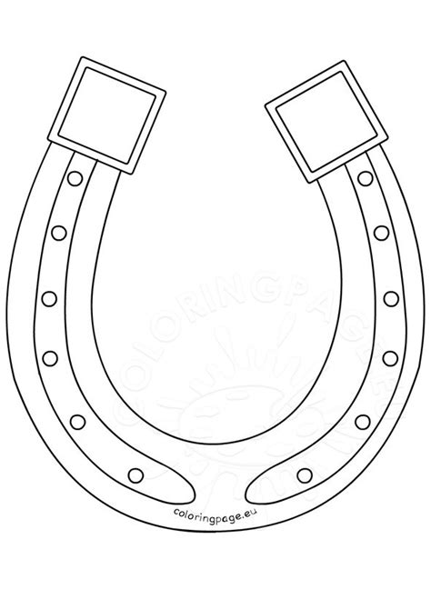 coloring page horseshoe printable saint patrick s day horseshoe coloring page