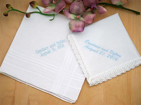 Wedding Font Set by Personalized Groom Hankie Bridal Set Font L