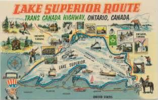 up peninsula mi 1940s lake superior trans canada sup