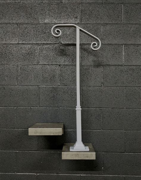 2 Stair Handrail Single Post 1 Or 2 Step Railing For Stairs Steel Handrail
