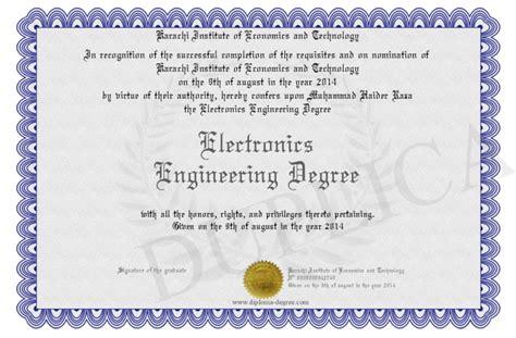 electronics engineering degree