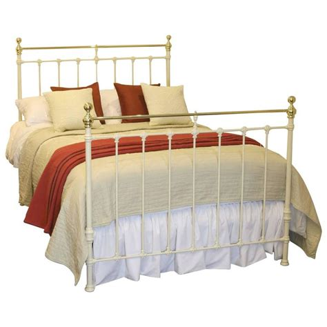 cream antique bedroom furniture double victorian cream antique bed md49 at 1stdibs