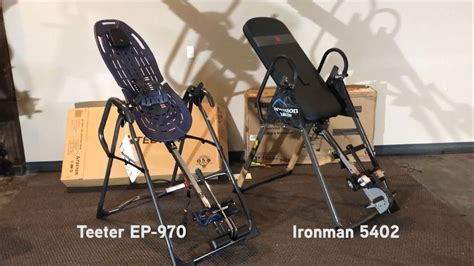 ironman inversion table 5402 inversion table review comparison of teeter ep 970 and